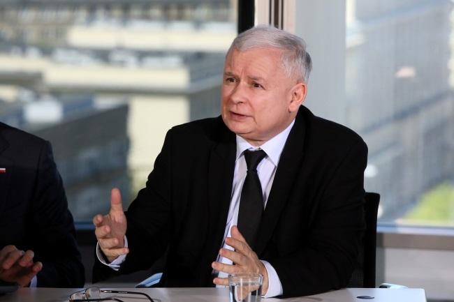 Jarosław Kaczyński. Photo: PAP/Tomasz Gzell