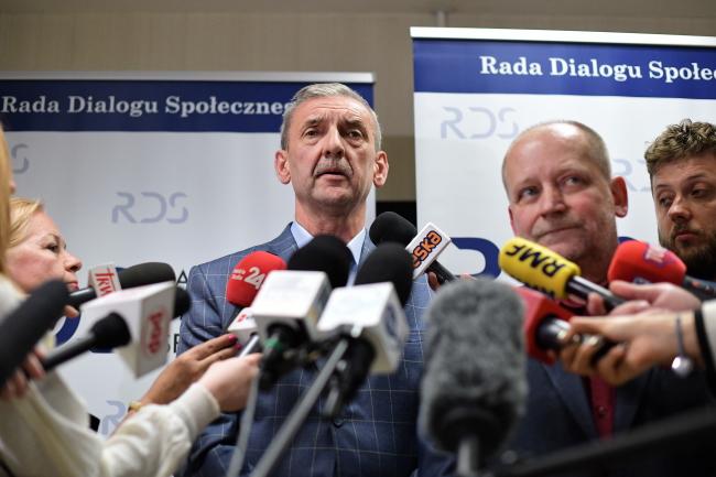 Лидер Союза польских учителей Славомир Броняж