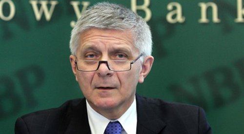 Photo: Governor of the national bank, Marek Belka. Photo: PAP/Radek Pietruszka