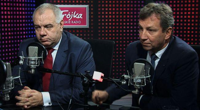 Яцек Сасин и Анджей Халицкий в студии 3-й Программы Польского Радио.