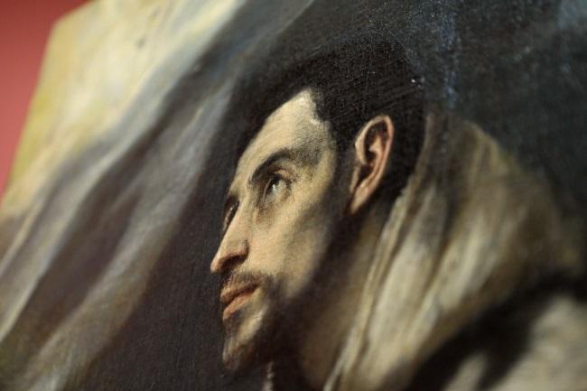 Fragment of El Greco's 'The Ecstasy of St Francis'. Photo: PAP/Stanisław Rozpędzik