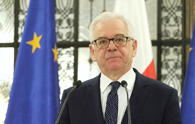 Міністар замежных спраў Польшчы Яцэк Чапутовіч.