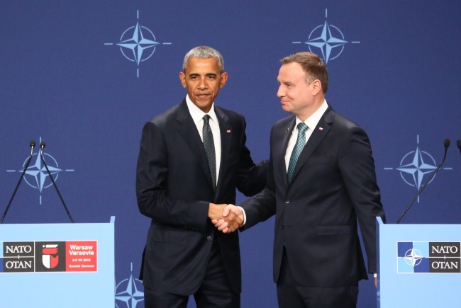 Barack Obama and Andrzej Duda in Warsaw. Photo: PAP/Leszek Szymański