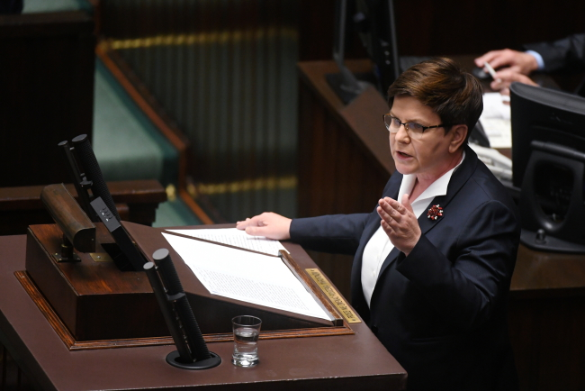 Polish Prime Minister Beata Szydło. Photo: PAP/Bartłomiej Zborowski