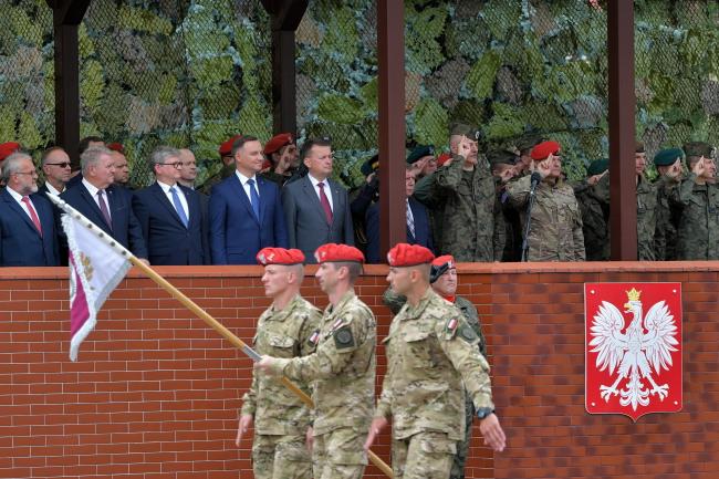Празднование Дня Военной жандармерии в Минске-Мазовецком с участием государственных властей РП.