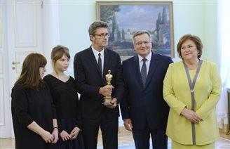 Pres. Komorowski meets 'Ida' crew