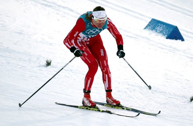 Poland's Justyna Kowalczyk in action during the women's individual classic sprint at the Pyeongchang Olympics on Tuesday. Photo: PAP/Grzegorz Momot
