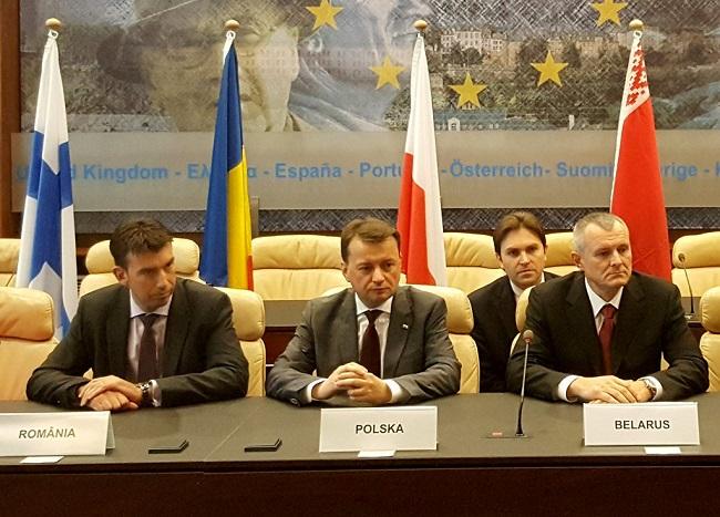 Dragos Tudorache, Mariusz Błaszczak, Igor Shunevich. Photo: MSWiA.gov.pl