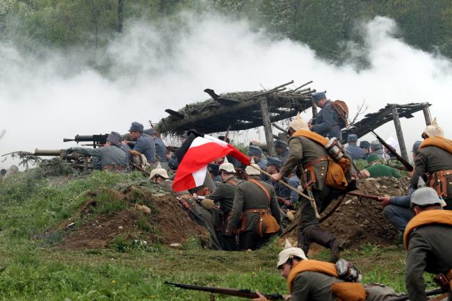 The reconstruction at Sekowa, southern Poland. Photo: PAP/Stanislaw Rozpedzik.
