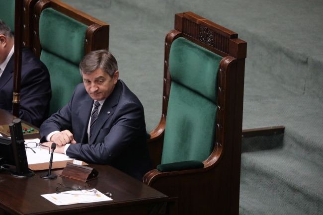 Marek Kuchciński. Photo: PAP/Tomasz Gze