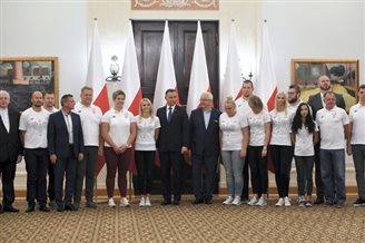 President praises Polish track-and-field athletes