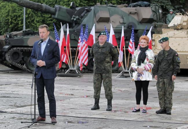 Виступ міністра національної оборони Маріуша Блащака