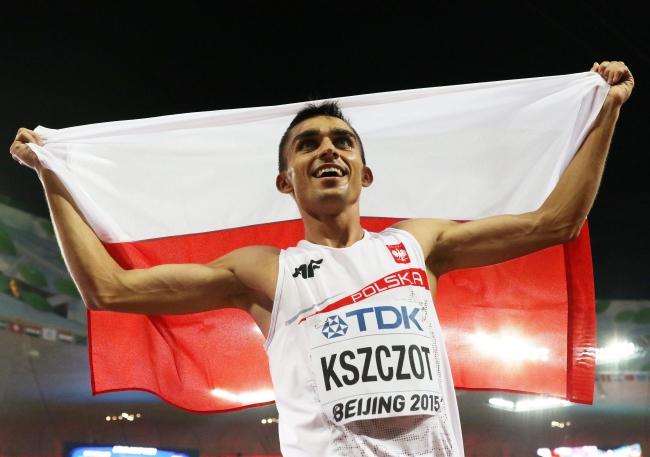 Adam Kszczot after winning silver in the men's 800m a the World Championships in Beijing. Photo: EPA/Wu Hong