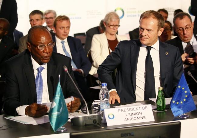Саміт Африканського Союзу та Європейського Союзу - Альфа Конде та Дональд Туск