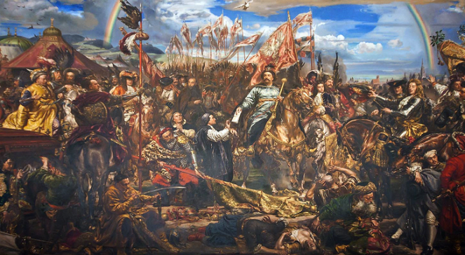 Картина Яна Матейка із зображенням короля Яна ІІІ Собєського, який пише папі Інокентієві XI про перемогу у Віденській битві 1683 року
