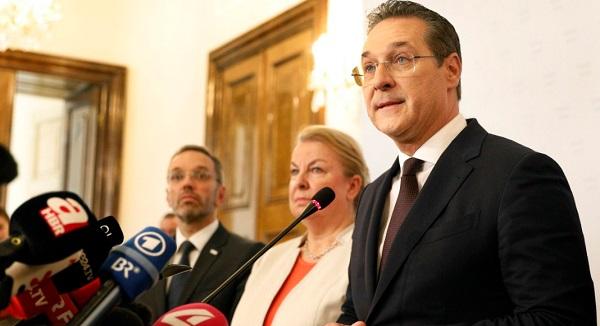 Вице-канцлер и лидер Австрийской партии свободы Хайнц-Кристиан Штрахе