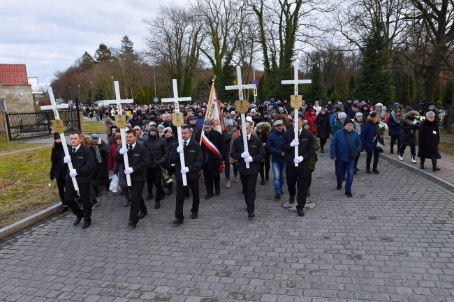 Funeral ceremonies in Koszalin. Photo: PAP/Marcin Bielecki