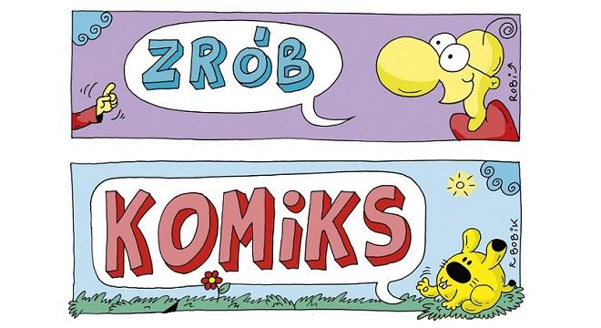 """Fragmenty okładki książki """"Zrób sobie komiks"""""""