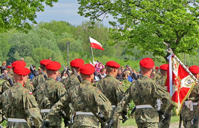 Варшава, 3 мая 2019 г. Военный парад по случаю Дня Конституции