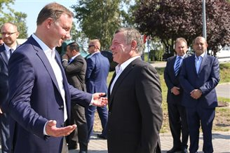 Polish president meets Jordanian king