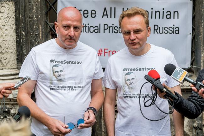 Президент Вроцлава Рафал Дуткевич (л) та міський голова Львова Андрій Садовий