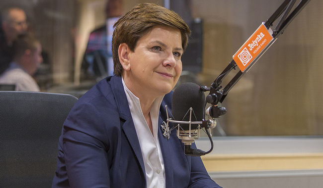 Prime Minister Beata Szydło on Wednesday. Photo: Polish Radio: Wojciech Kusiński
