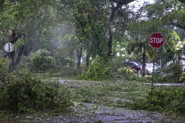 Miami, after Hurrican Irma hit. Photo: EPA/CRISTOBAL HERRERA.