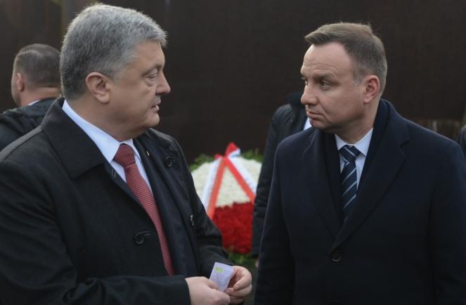 Президенти України Петро Порошенко та Польщі Анджей Дуда