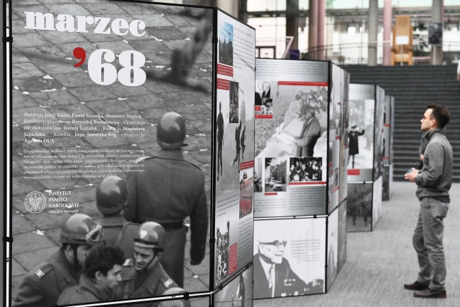 Exhibition entitled 'March 1968', on show at the University of Warsaw Library. Photo: PAP/Marcin Kmieciński