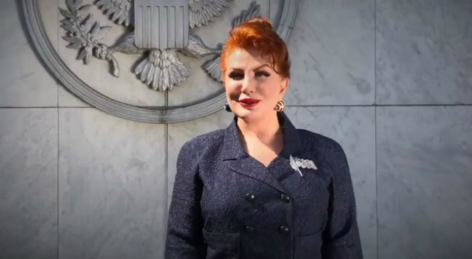 The US Ambassador to Poland Georgette Mosbacher