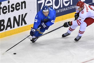 Kazakhstan bests Poland on the ice