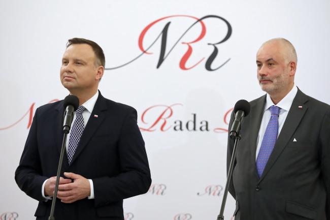 Президент Польши АНджей Дуда и врач-онколог проф. Петр Чаудерна