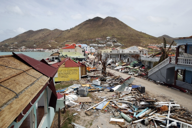 The effect of Hurricane Irma on Saint Martin. Photo: EPA/CHRISTOPHE ENA