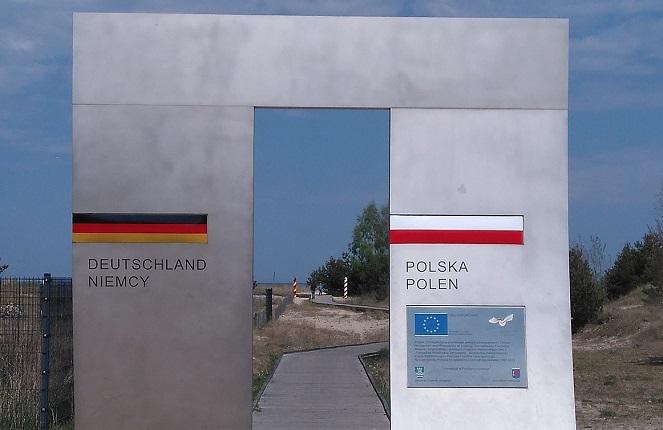Пешеходный переход через польско-германскую границу