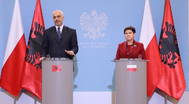 Premier Beata Szydło i premier Albanii Edi Rama