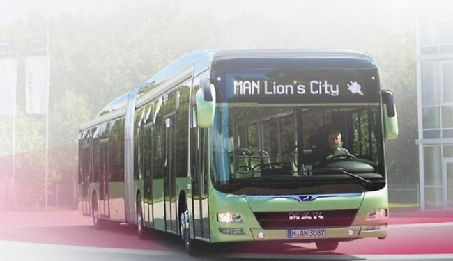 Электрический автобус производства MAN