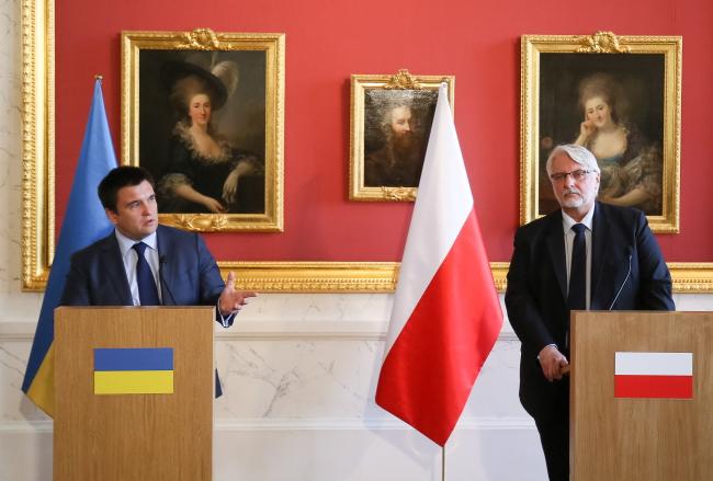 Павло Клімкін і Вітольд Ващиковський. Варшава, 15 березня 2017.