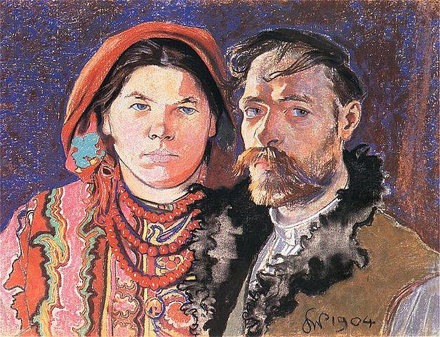 """Станіслав Виспянський, """"Автопортрет з дружиною"""" (1904)"""