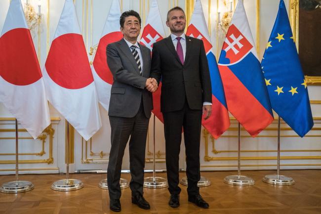 Japanese Prime Minister Shinzo Abe in Slovakia