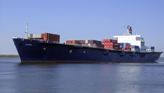 The El Faro container ship. EPA/TOTE MARITIME / HANDOUT HANDOUT