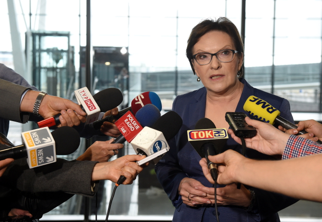 Prime Minister Ewa Kopacz. Photo: PAP/Radek Pietruszka