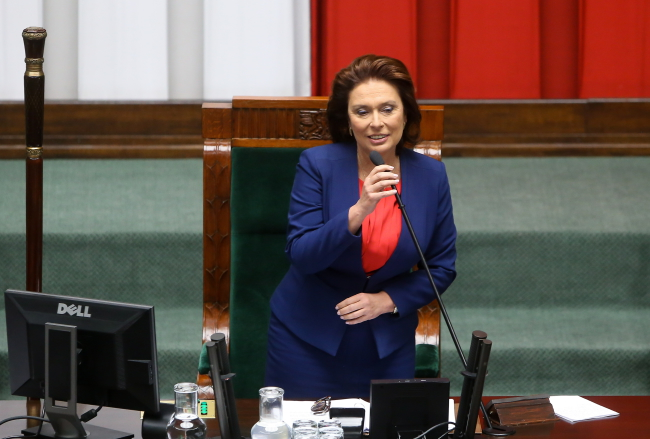 Małgorzata Kidawa-Błońska was elected Sejm speaker on Thursday. Photo: PAP/Paweł Supernak