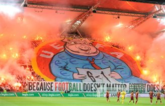 Legia fans still angry over Champions League punishment