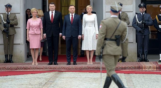 Wizyta prezydenta Łotwy w Warszawie