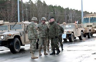 US Combat team arrives in Poland