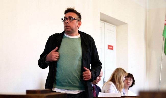 Сяргей Пятрухін у судзе, 15 красавіка 2019 году