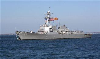 US destroyer docks in Poland