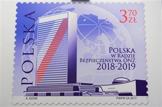 З'явилася поштова марка, приурочена до участі Польщі в Раді безпеки ООН