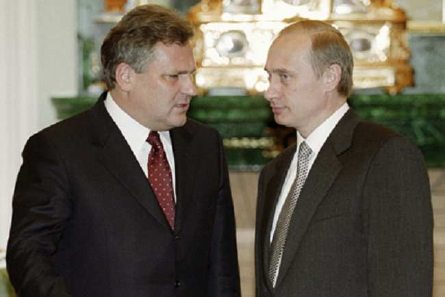 Putin and Kwaśniewski have met on a number of occasions. Photo: Wikimedia Commons