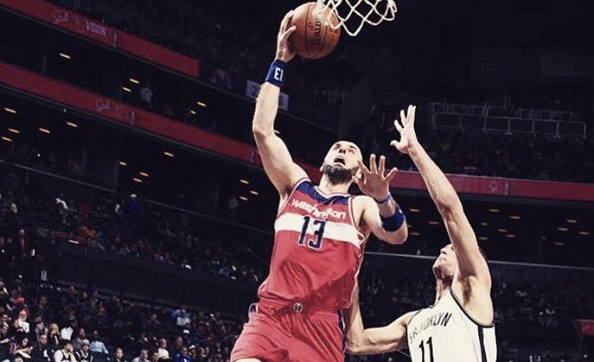 Marcin Gortat in action. Photo: Facebook.com/Marcin Gortat